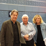 Roger Allam and Nancy Carroll talk about The Moderate Soprano on In Tune. With presenter Sean Rafferty © BBC3