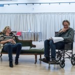 Nancy Carroll and Roger Allam rehearsing for The Moderate Soprano © Manuel Harlan / Hampstead Theatre