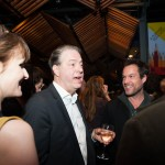 Rebecca Saire, Roger Allam and John Light The Moderate Soprano press night © Alice Boagey 2015