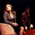 Gillian Anderson as Melinda Metz and Roger Allam as Adam Penzius © Comedy Theatre (now Harold Pinter Theatre)