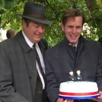 Roger Allam and Shaun Evans on the set of Endeavour series 4 © @HappycakesUK, 2016