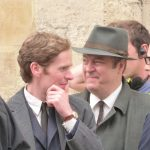 Shaun Evans and Roger Allam on the set of Endeavour series 4 © @Jodelle08, 2016