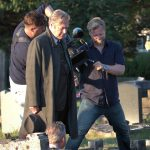 Cast filming Endeavour IV at Headington Cemetery © Deb Johnson, 2016 (www.flickr.com/photos/debsjphotos)