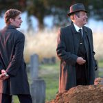 Shaun Evans and Roger Allam filming Endeavour IV at Headington Cemetery © Deb Johnson, 2016 (www.flickr.com/photos/debsjphotos)