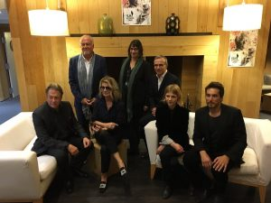 Members of the jury Annette Dutertre, Clémence Poesy, Philippe Besson, Vincent Elbaz, Nicole Garcia, Michael Ryan et Roger Allam © @FestivalDinard 2017