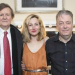 David Hare, Carroll and Roger Allam during press night of The Moderate Soprano © Dan Wooller and WhatsOnStage, 2018
