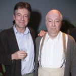 Gus Christie and Roger Allam at The Moderate Soprano press night © Dave Benett 2018