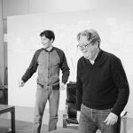 Roger Allam and Colin Morgan – A Number rehearsal photos by Johan Persson, 2020